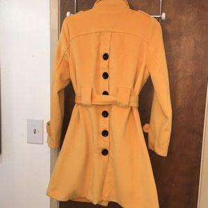 Jackets & Coats - Yellow long sleeve trench coat, XL